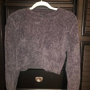 crewneck cropped sweater